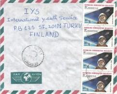 Madagascar 1989 Mahitsy Space Sputnik Cover - Brieven & Documenten