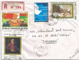 Madagascar 1986 Ambohidratrimo Rembrandt Painting Levitan UPU Agriculture Tractor Registered Cover - Madagaskar (1960-...)