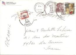 Lettre 1988 Arthur Saint Louis Pour France 44 La Bernerie - Postal History