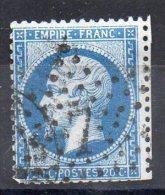 N° 22--OBLITERATION DE PARIS -- ETOILE  7 - 1862 Napoleon III