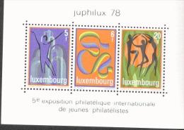 Luxemburg Block 12 Briefmarkenausstellung JUPHILUX 78 MNH Postfrisch ** - Blocs & Hojas