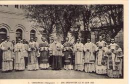 Madagascar.. Animée.. Une Ordination En 1933.. Prêtres.. Religion - Madagascar