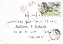 Madagascar 1997 Antananarivo Olympic Games Moscow Swimming Underfranked Taxed Cover - Madagaskar (1960-...)