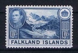 Falkland Islands: 1938  Mi 88b Hell Blue MH/* - Falklandeilanden