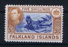 Falkland Islands: 1938  Mi 91 B Orange Brown  MH/* - Falklandeilanden