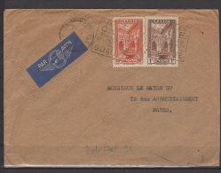 Maroc - N° 142 Et 143 Obli/sur Lettre  - 1939 - Voir Cachet - Marokko (1891-1956)