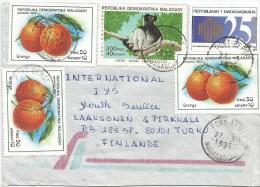 Madagascar 1996 Port Berge Lemur Ape Monkey Hotel Hilton Orange Citrus Fruit Cover - Madagaskar (1960-...)