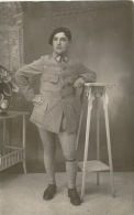 LES LILAS - MILITARIA - Belle Carte Photo Portrait Militaire (N° 299 Sur Col Uniforme) - Photo. PÉTIN LES LILAS - Les Lilas