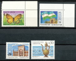 USBEKISTAN - Mi.Nr.   2+3+4+6    -  Postfrisch - Usbekistan
