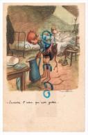 Ligue Nationale Contre Les Taudis  2  Enfants Se Réveillant - Cartes Postales
