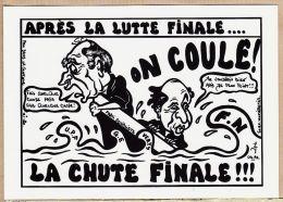 A5533 Tirage N°28/50ex! Politique Satirique MITTERRAND FABIUS Lutte Chute Finale  04.1992 - LARDIE Beaucaire - Satira