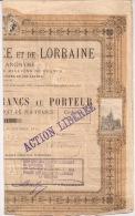 F123 - BANQUE D´ALSACE Et De LORRAINE - 1872 - ACTION DE 500 FRANCS AU PORTEUR - - Banca & Assicurazione