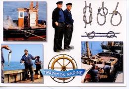 Métiers : Tradition Pêche Marine : Sauterellier (crevette Sauterelle) Noeuds Plat Bouline Pêche à La Plume Maquereau - Fishing