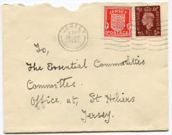 JERSEY OCCUPATION ALLEMANDE LETTRE  AFFRANCHIE AVEC LE N°2 + N°211 DE GB OBLITERATION JERSEY 28 JLY 1941 - Jersey