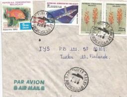 Madagascar 1985 Baretvillesakay Space Sputnik Flower Fish Cover - Madagaskar (1960-...)
