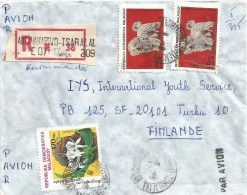 Madagascar 1984 Antananarivo Tsaralal Dog Orchid Flower Registered Cover - Madagaskar (1960-...)