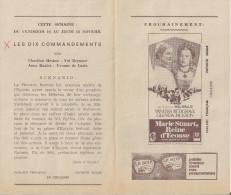 CINE LEOPOLD PALACE (Bruxelles) -  Film 'LES DIX COMMANDEMENTS´ (1956) Et Autres. - Publicité Cinématographique