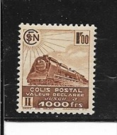 N° 177  FRANCE NEUFS A CHARNIERE -  1 F Brun  1939 - Colis Postaux