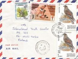Madagascar 1997 Mantasoa Eagle Bird Of Prey Olympic Games Moscow Boxing Cover - Madagaskar (1960-...)