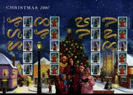 GREAT BRITAIN - 2007  CHRISTMAS GENERIC SMILERS SHEET   PERFECT CONDITION - Fogli Completi