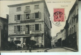 COURS Hotel SARRAZIN Et Rue Grande - Cours-la-Ville