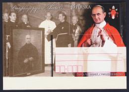 "2014 POLONIA ""BEATIFICAZIONE PAPA PAOLO VI"" INTERO POSTALE - Stamped Stationery"