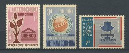 VIETNAM SUD 1966  N° 301/303 ** Neufs  = MNH Superbes Cote 1,95 € UNESCO Flore - Vietnam