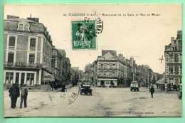 35 FOUGERES - Boulevard De La Gare Et Rue Du Maine - Fougeres
