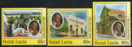 St Lucia 1986 - Visit Of Pope John  Paul II SG886-888 MNH Cat £4.75 SG2015 - St.Lucie (1979-...)