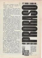 1967 - PRORASO   -   1 Pagina  Pubblicità  Cm. 13 X 18 - Riviste