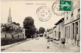 Vadenay - Rue Principale ( édition Kintzel, Cachet Perlé ) - France