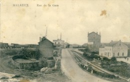 Melreux - Rue De La Gare Et ... La Gare Au Loin - 1923 ( Voir Verso ) - Hotton