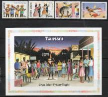 St Lucia 1986 - Tourism 1st Issue - Set + Miniature Sheet SG914-MS918 MNH Cat £5.55 SG2015 - See Description Below - St.Lucie (1979-...)