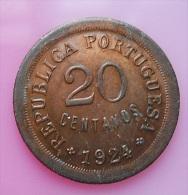 Portugal 20 Centavos 1924 High Grade Varnished - Portugal