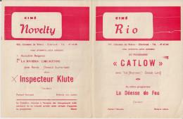 CINE RIO Et CINE NOVELTY (Etterbeek) ´CATLOW´ (1971) Et Autres. - Publicité Cinématographique
