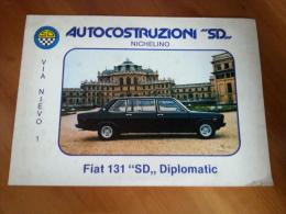 Fiat 131 SD Diplomatic Limousine 8 Posti 1981 Depliant Italiano Originale Factory Brochure Catalog Prospekt - Cars