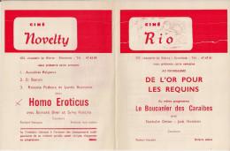 CINE RIO Et CINE NOVELTY (Etterbeek) ´LES FEUX DE LA CHANDELEUR' (1972) Et Autres. - Cinema Advertisement