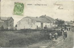 Chiny - Quartier du Liry - Belle animation - 1907 ( voir verso )
