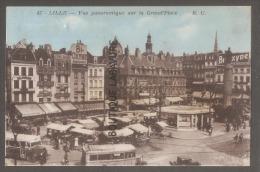 59--LILLE --Vue Panoramique Sur La Grand'place--cpsm Pf Colorisée - Lille