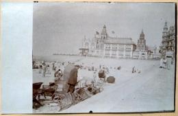 BORD DE MER A IDENTIFIER  PLAGE  TOURISMECARTE PHOTO VERS 1900 - Photographs