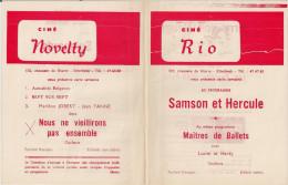 CINE RIO Et CINE NOVELTY (Etterbeek) ´DOUZE SALOPARDS´ (1972) Et Autres. - Publicité Cinématographique