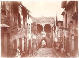 Dépt 22 - DINAN - Photo 8 X 11cm - Rue Et Porte Du Jersual (Jerzual), Photographie, 1904 - Dinan