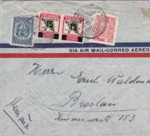 Colombia 1939 - Seltene 4 Fach Frankierung Auf LP-Brief Nach Breslau - Colombia