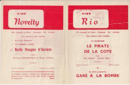 CINE RIO Et CINE NOVELTY (Etterbeek) ´LE PIRATE DE LA COTE' (1960) Et Autres. - Publicité Cinématographique