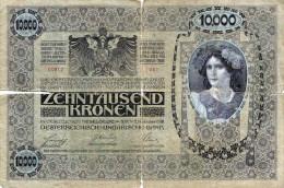 10.000 Kronen 2.Nov.1918 Banknote Österreich-Ungarn, Sammlerwert > 100€, Gebrauchte Erhaltung Mit Einrisse Siehe Sc - Autriche