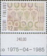 Finlandia - Finland 1985  Popular Crafts Artigianato  Artisanat  1v Complete Set ** MNH - Nuovi