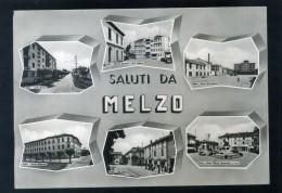 VR033  CARTOLINA MILANO MELZO SALUTI VEDUTE VEDUTINE - Milano (Milan)