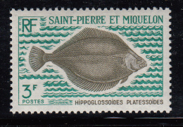 St Pierre Et Miquelon MNH Scott #420 3fr Hippoglossoides Platessoides - St.Pierre Et Miquelon