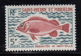 St Pierre Et Miquelon MNH Scott #421 5fr Sebastes Mentella - St.Pierre Et Miquelon