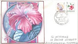 Fleurs D'Hibiscus. Belle Lettre FDC Adressée En Australie - Papouasie-Nouvelle-Guinée
